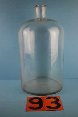 Alter  Glasballon Transparent Ca 10 Liter Nr 93