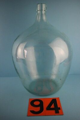 Alter  Glasballon Transparent Ca 10 Liter Nr 94