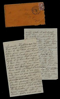 17th Indiana Infantry CIVIL WAR LETTER - Great Content from Louisville, Kentucky