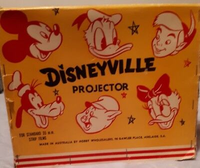 1950's Disneyville Tin Projector Made in Adelaide By Hobby Wholesalers