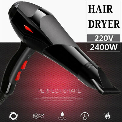 2400W Professional Electric Hair Dryer Salon 3 Speed 2 Heat Hairdressing Blow