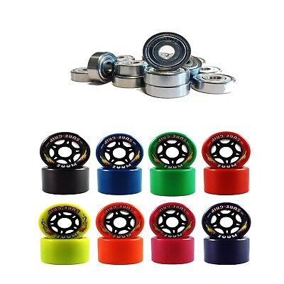 Speed Master 7 & Zoom Indoor Speed Roller Skate Wheels 95A 62Mm X 40Mm Set Of 8