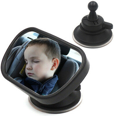 Universal Car Infant Baby Viewer Mirror 360 Degrees Rotatable w/Suction Cup Clip