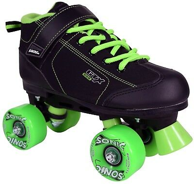 Black And Neon Green Pacer Gtx 500 Sonic Outdoor Speed Roller Skates