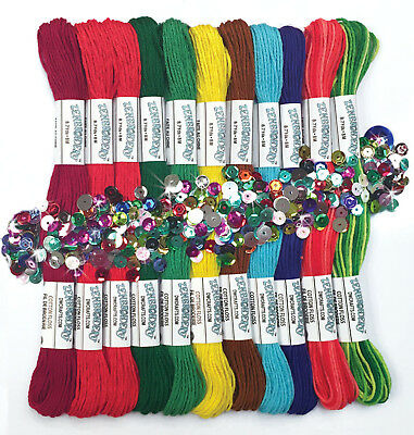 """Embroidery ~ Zenbroidery """"Christmas"""" 12 Skein Trim / Floss Pack #DW4033"""