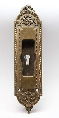 Antique Victorian Brass Pocket Plate with Keyhole