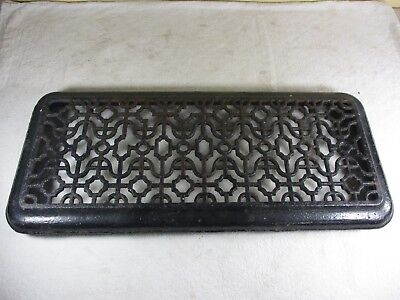 Antique Victorian Cast Iron House Floor Grate Heat Register Vent Ornate  21 x 9