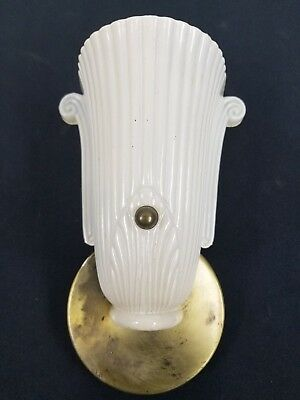 Antique Art Deco Slip Shade Wall Sconce Light Fixture Frame Theater Sign