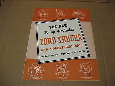 1941 New 30 HP 4 Cylinder Ford Trucks and Commercial Cars Brochure