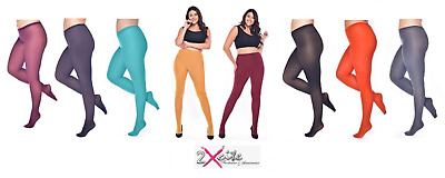 Pamela Mann Curvy Stretch 50 Denier Opaque Specialist Tights Plus Size Upto 5Xl