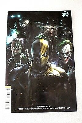 Deathstroke #36 Francesco Mattina 1st Print  Variant Edition Cover B First