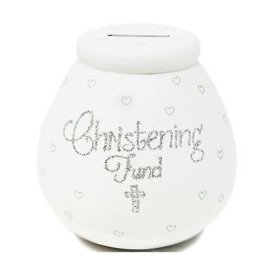 Pot Of Dreams Christening Fund White Money Pot Savings Piggy Bank Kids Gift Idea