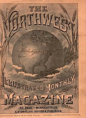 1886 The Northwest Illustrated Monthly Magazine featuring Seattle