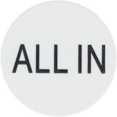 """New """"ALL IN"""" BUTTON 2"""" for Texas Hold'Em Poker Tournaments Games FREE SHIPPING *"""