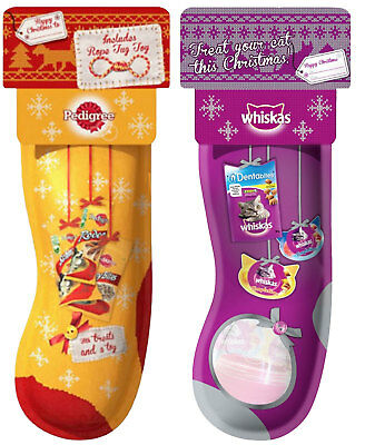 Pedigree Christmas Dog Stocking & Whiskas Christmas Cat Stocking - BULK SAVINGS