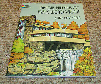 Famous Buildings Of Frank Lloyd Wright Coloring Book Dover Adult