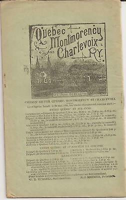 1896 Quebec Montmorency And Charlevoix Ry. To Ste-Anne De Beaupré Original Ad