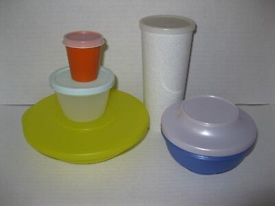 TUPPERWARE ~ LOT OF LUNCH CONTAINERS Tumbler Bowls Midget Snack Cup