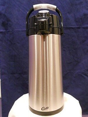 Curtis ThermoPro Air Pot 2.2L Stainless Steel Body Glass Liner Lever Pump TLXA22