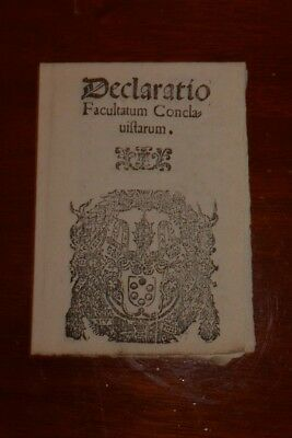 "Very Rare 16Th Century ""brochure"" For Use Is Papal Conclaves - 1562"