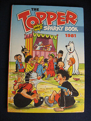THE TOPPER AND SPARKY BOOK 1981 annual (Hardback) Excellent condition
