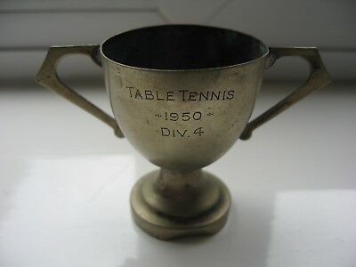 Vintage small brass? Trophy 1950 Table Tennis DIV 4 - In a shabby condition