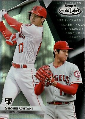 Image result for 2018 topps gold label shohei ohtani