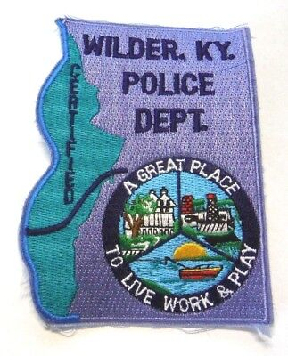 Wilder Kentucky Police Patch Unused