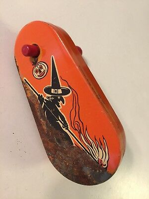 Antique Kirchhof Life Of The Party Noise Maker Orange Halloween Witch