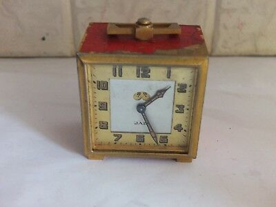 Old Retro Alarm Clock Jaz Art Deco Boxed With Case