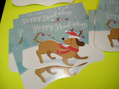 10 LOT dachshund wiener dog greeting cards xmas