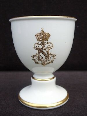 19Th C. Sevres France Napoleon Iii Armorial Footed Egg Cup ~ Rare ~ Listing #2