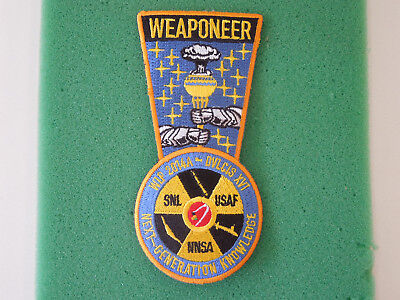 """US DEPARTMENT of ENERGY  """"WEAPONEER""""  NUCLEAR WEAPON PATCH  SNL / USAF / NNSA"""
