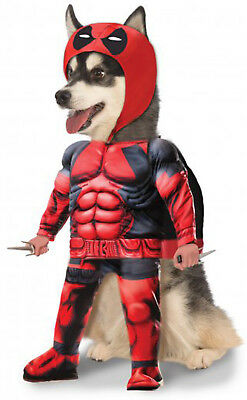 Deadpool Marvel Superhero Wade Wilson Pet Dog Cat Halloween Costume