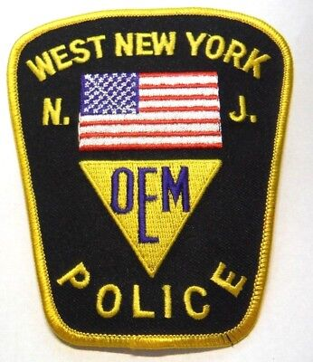 Old West New York New Jersey Police Oem Patch Unused