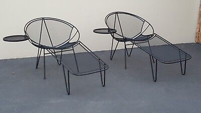 2 Salterini Hairpin Lounges 3 Piece Lounger 1 Chair 1 Cocktail Table 1 Footrest