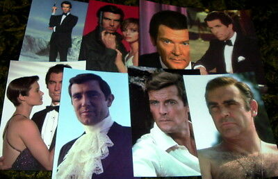 1996 James Bond Post Cards Lot Of 8