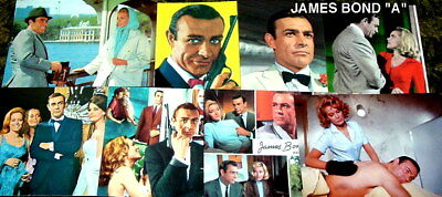 "1997 JAMES BOND LOT OF 12 POST CARDS ""a"""