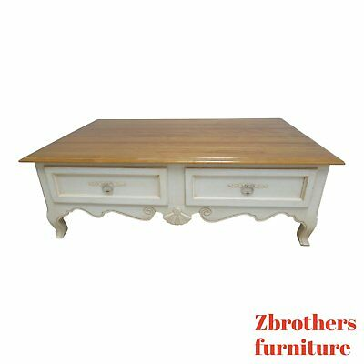 Ethan Allen Legacy Country French Coffee Table Storage Cabinet