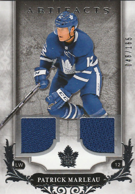 2018-19 Artifacts Materials Silver #26 Patrick Marleau Jersey /165 - NM-MT