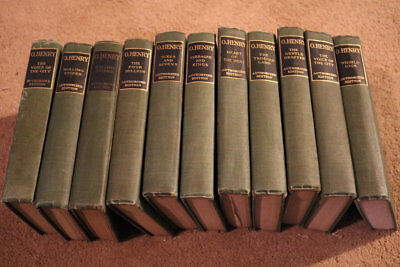 set of 11 o henry antique authorized books green collection lot old vintage hc