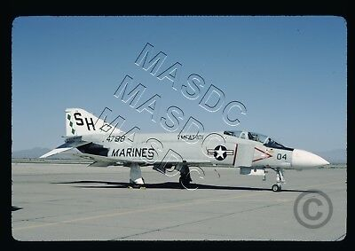 35mm Kodachrome Aircraft Slide - F-4J Phantom BuNo 154788 SH04 VMFAT-101 -- 1977
