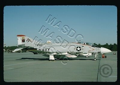 35mm Kodachrome Aircraft Slide - F-4J Phantom BuNo 157282 AA105 VF-11 - NOV 1974