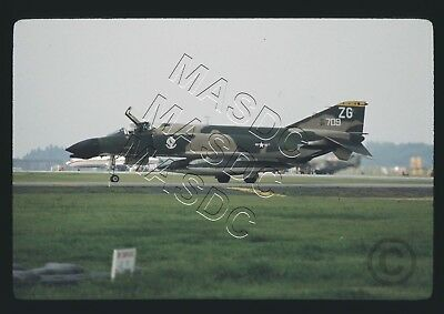 "35mm Ektachrome Aircraft Slide - F-4D Phantom 65-0709 ""ZG"" 68TFS @ Yokota - 1969"