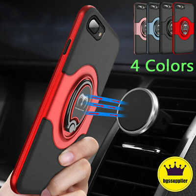 For iPhone 7 8 Plus Hybrid Shockproof Rubber Magnetic Protective Hard Case Cover