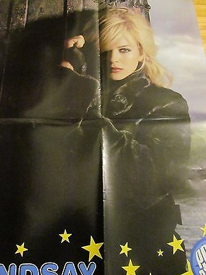Lindsay Lohan, Hilary Duff, Double Four Page Foldout Poster