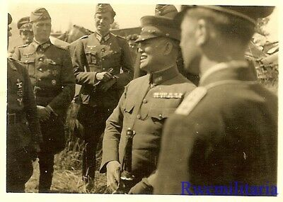 **RARE: Japanese General HIROSHI OSHIMA w/ Wehrmacht General & Officers!!!**