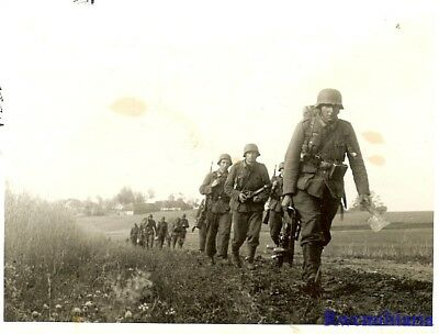 Port. Photo: MOVE OST! Wehrmacht Granatwerfer Mortar Truppe on Move; Russia!!!