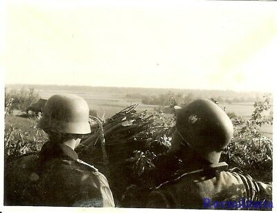 Port. Photo: FRONTLINE! Wehrmacht Soldiers Peer Out at Russian Positions; 1941!