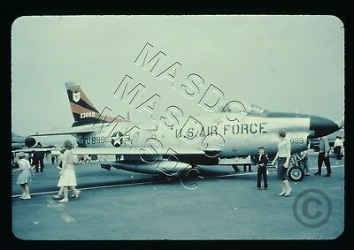 35mm Generic Aircraft Slide - F-86D Sabre Dog 52-3899 of 440th FIS in May 1960